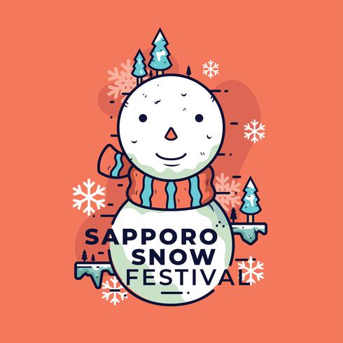 sapporo sneeuwfestival vector