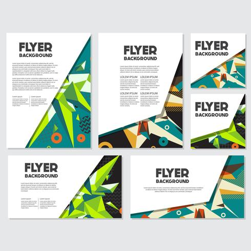 Modello di progettazione di sfondo stile Low Poly Flyer