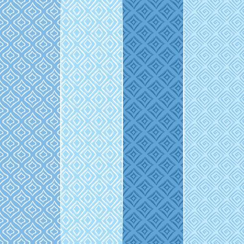 Vektor blaue nahtlose Muster