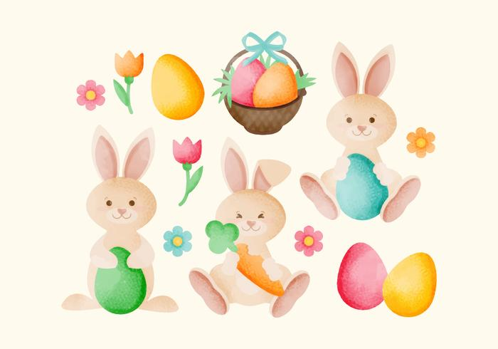 Vector Hand Drawn Easter Bunnies - Download Free Vector Art, Stock Graphics & Images