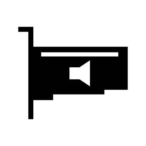 Audio Card Vector Icon