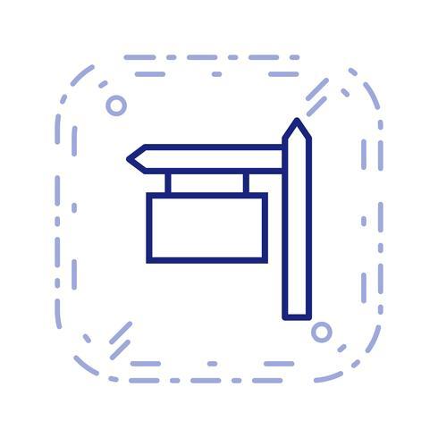 Ícone de vetor de placa de sinal