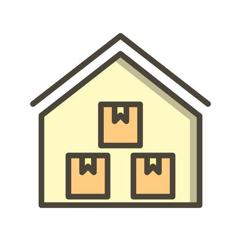 Ícone de vetor de armazém de armazenamento
