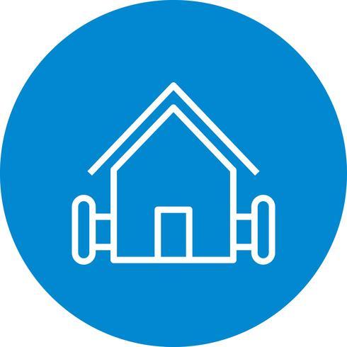 Icono de vector de casa de granja