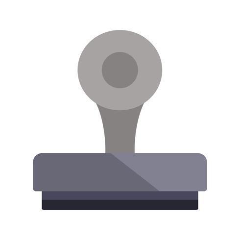 Icône de vecteur de timbre