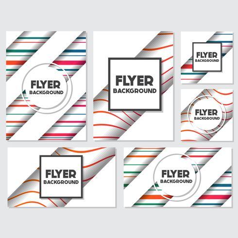 modello di disegno di sfondo stile flyer sfondo fresco