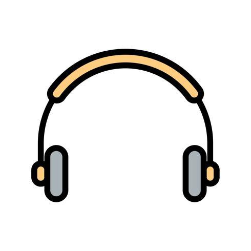 Vector icono de auriculares