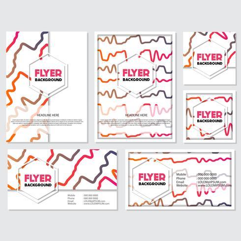 Fondo fresco Flyer estilo Fondo Diseño Plantilla