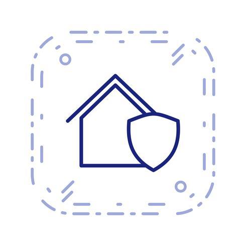 Geschützte Haus Vektor Icon