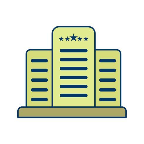 Hotel de cinco estrellas Vector icono