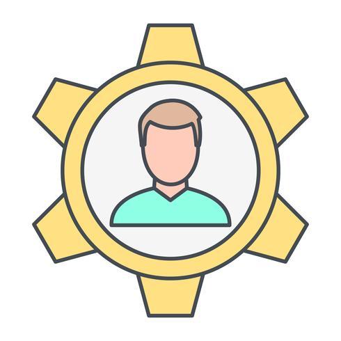 Ícone de vetor de gestão