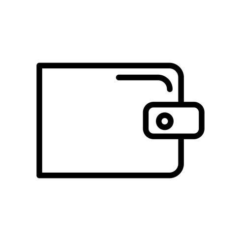 Vektor-Brieftasche-Symbol