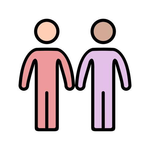 Icono de vector de asociación