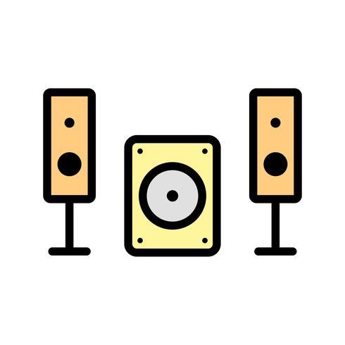 Icono de Vector de sistema de música