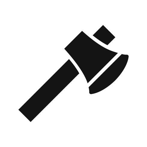 Icono de vector de hacha