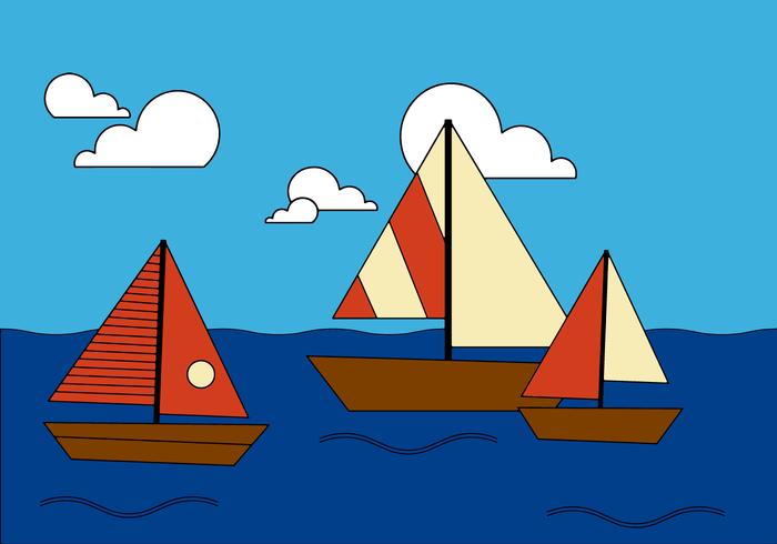 Vector de barco gratis