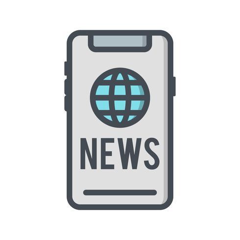 Icône de nouvelles de vecteur