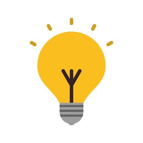 Icône d'ampoule de vecteur