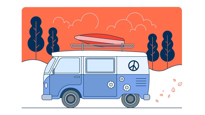 Vector de viaje de playa