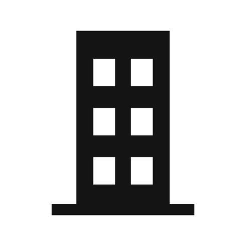Platte vector pictogram