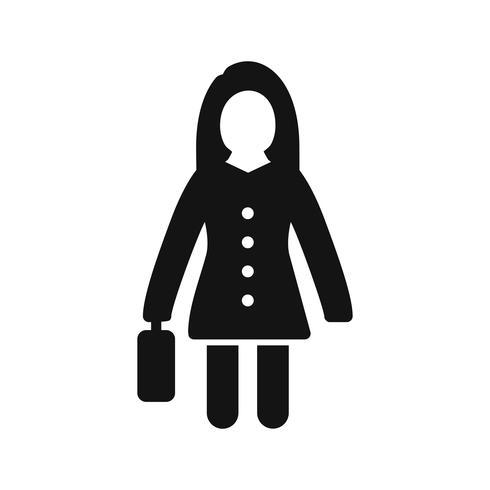 Frauen mit Aktenkoffer-Vektor-Ikone