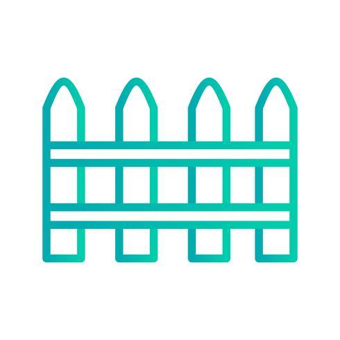 Icono de vector de la cerca