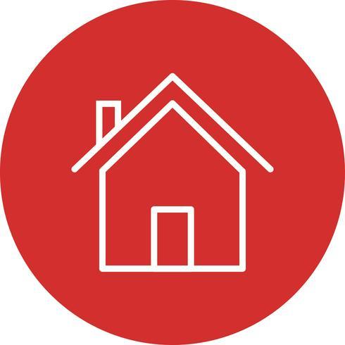 Icono de vector de la casa
