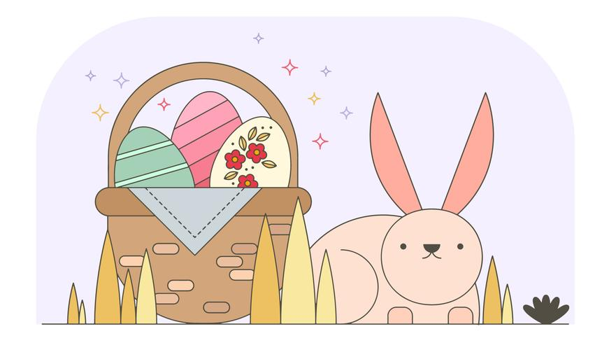 Bunny Easter Wallpaper Vector