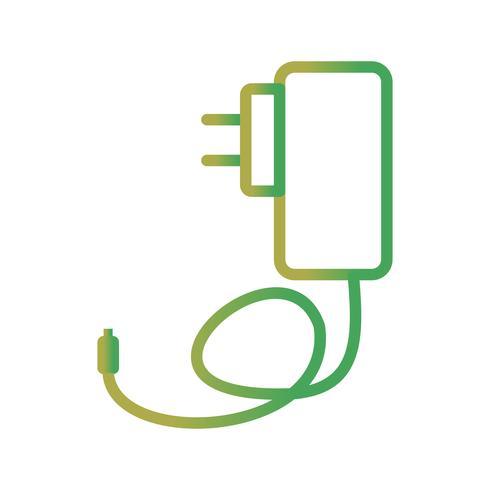 Icono de Vector de cargador móvil