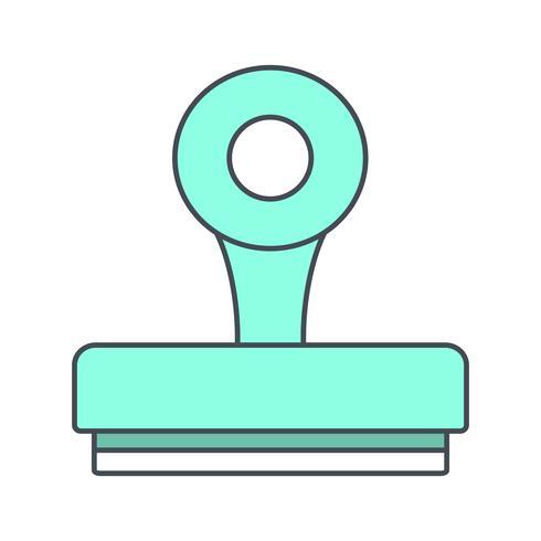 Icono de vector de sello