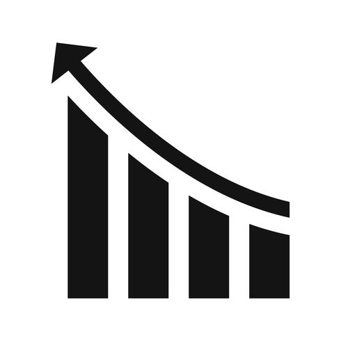 Prestationsvektorns ikon