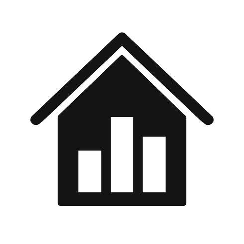 Icona di vettore di statistiche immobiliari