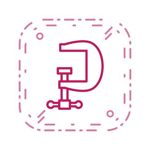 Icono de vector de tornillo