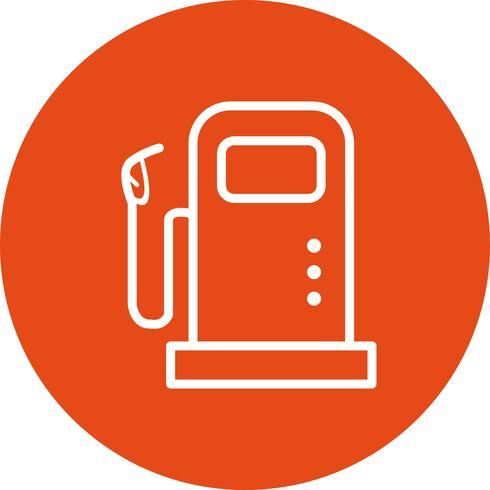 Icona di vettore di stazione di carburante