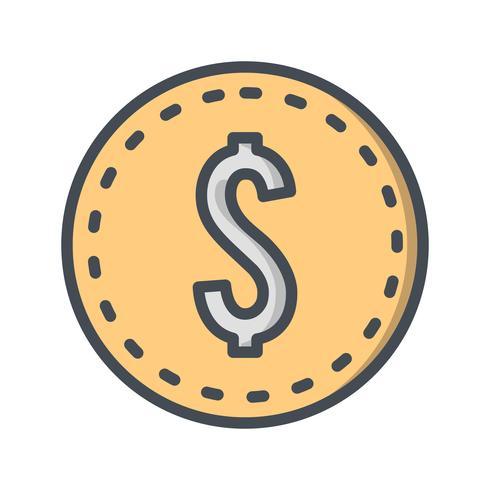 Vector dólares icono de moneda
