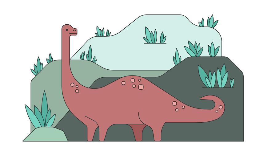 Dinosaurio Brontosaurus Vector