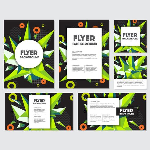 Laag Poly Flyer stijl achtergrond ontwerpsjabloon