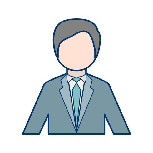Icône de vecteur d'homme d'affaires