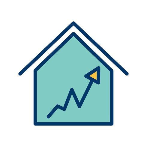 Graph Haus Vektor Icon