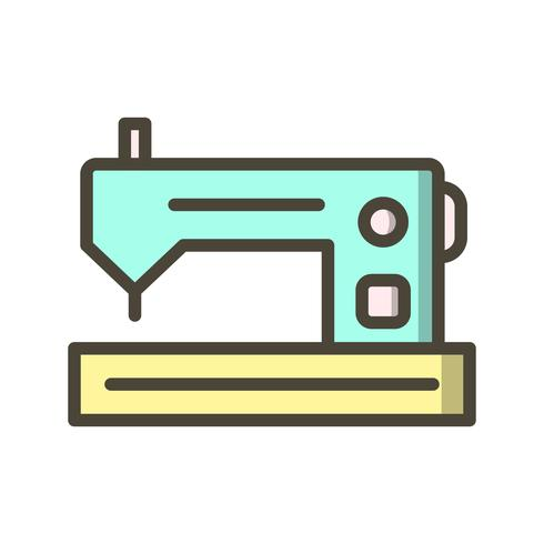 Nähmaschine-Vektor-Symbol