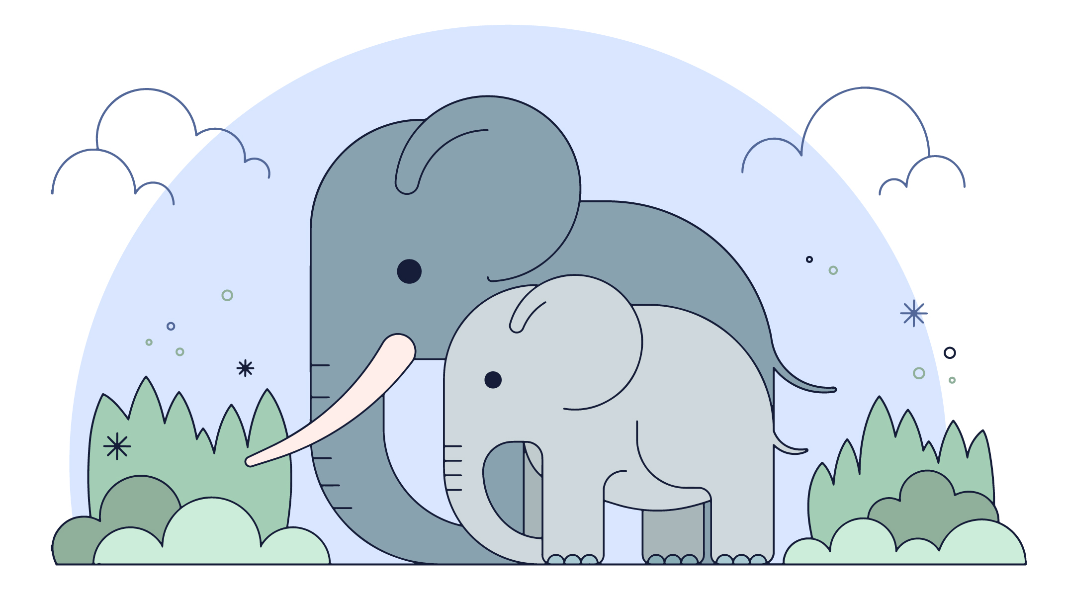Elephant Family Free Vector Art - (48 Free Downloads)
