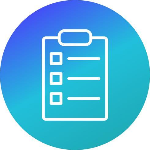 Vector List Icon
