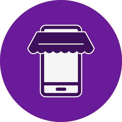 Vector icono de compras en línea