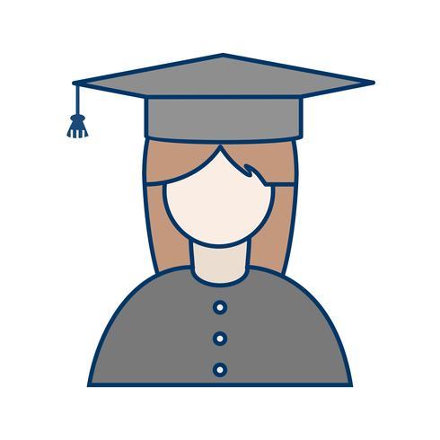 Icona della studentessa di vettore