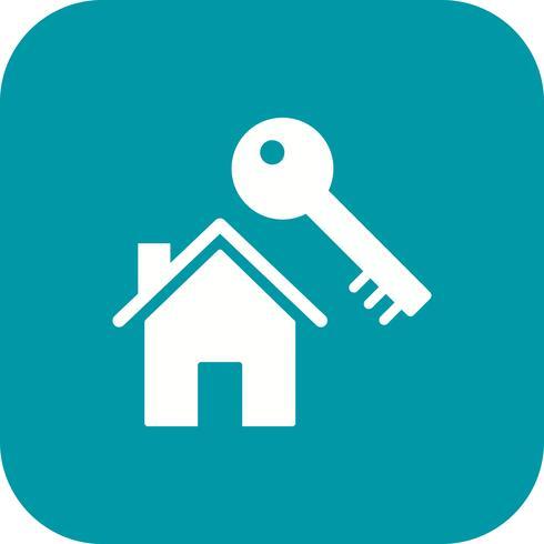 hus nyckel vektorikonen
