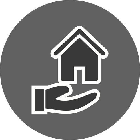 Haus an Hand Vektor Icon