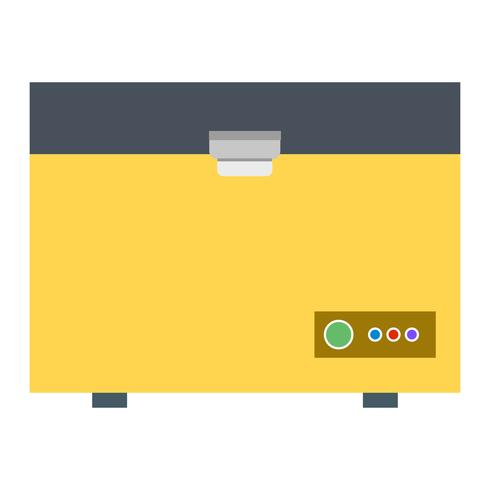 Deep Freezer Vector Icon