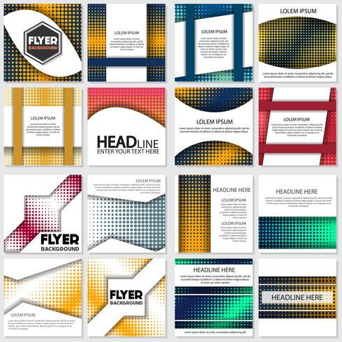 meio-tom Flyer estilo fundo modelo de Design