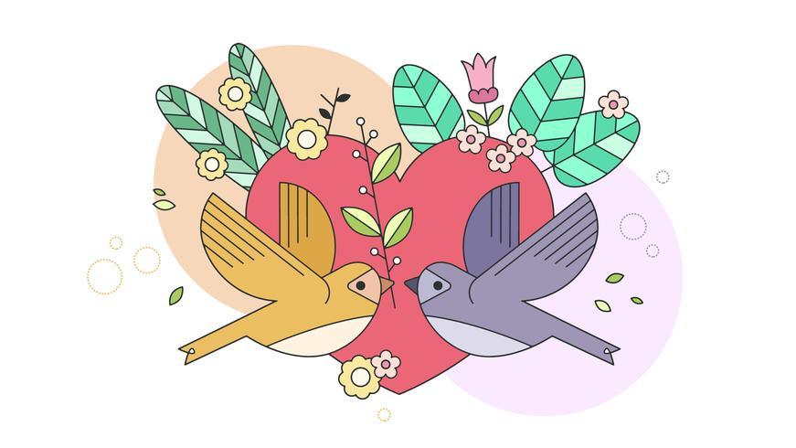Kärlek Wallpaper Vector