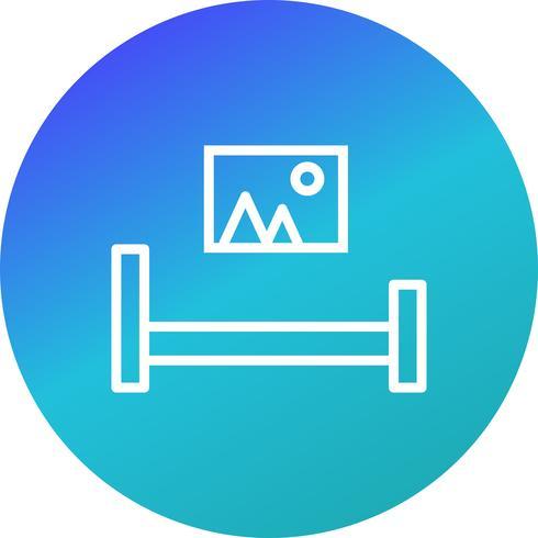 säng rum vektor ikon